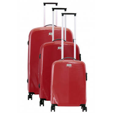 Lot de 3 valises TEKMi VIKY - ROUGE