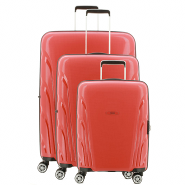 Lot de 3 valises TEKMi SENTAUR - ROUGE