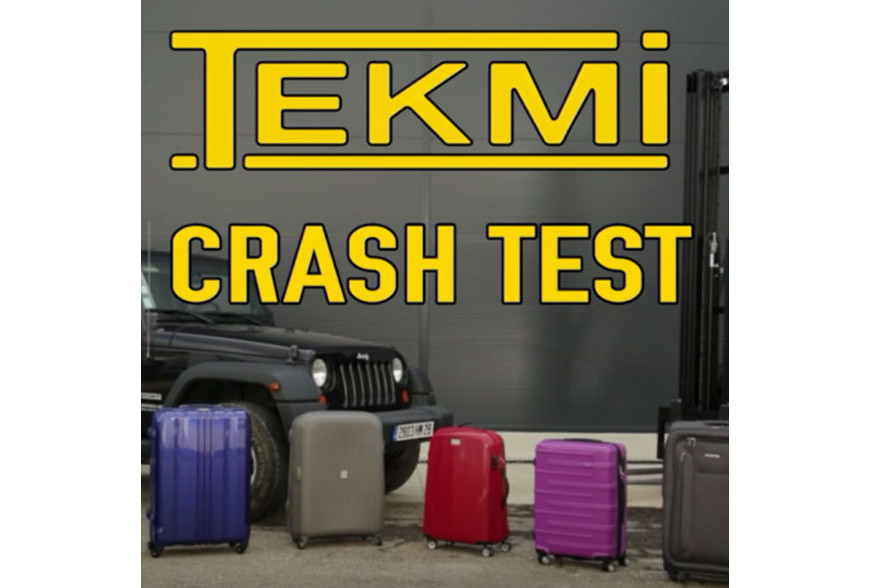 La valise rigide TEKMI JACK passe le crash Test